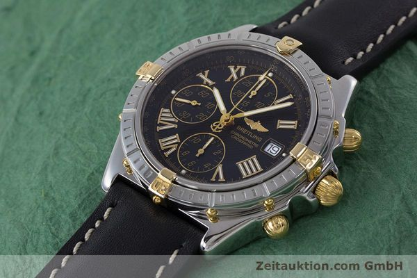 Used luxury watch Breitling Crosswind chronograph steel / gold automatic Kal. B13 ETA 7750 Ref. B13355  | 160808 01