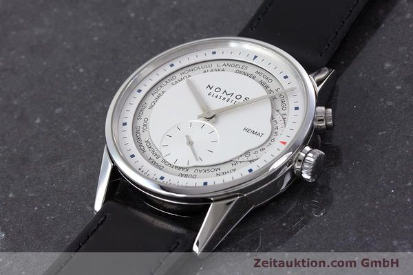 Used luxury watch Nomos Zürich Weltzeituhr steel automatic Kal. XI LIMITED EDITION | 160831 01