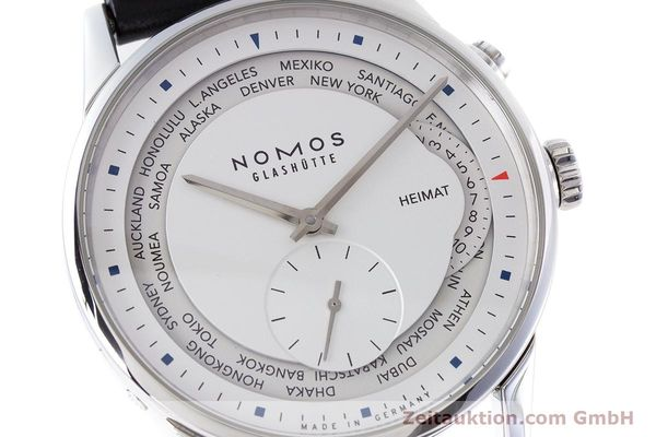 Used luxury watch Nomos Zürich Weltzeituhr steel automatic Kal. XI LIMITED EDITION | 160831 02
