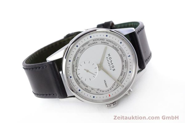 Used luxury watch Nomos Zürich Weltzeituhr steel automatic Kal. XI LIMITED EDITION | 160831 03