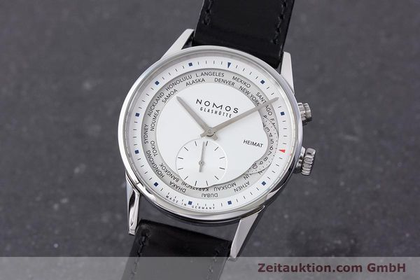 Used luxury watch Nomos Zürich Weltzeituhr steel automatic Kal. XI LIMITED EDITION | 160831 04