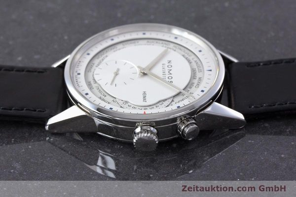 Used luxury watch Nomos Zürich Weltzeituhr steel automatic Kal. XI LIMITED EDITION | 160831 05