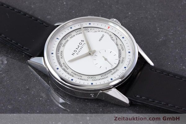 Used luxury watch Nomos Zürich Weltzeituhr steel automatic Kal. XI LIMITED EDITION | 160831 15