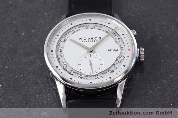 Used luxury watch Nomos Zürich Weltzeituhr steel automatic Kal. XI LIMITED EDITION | 160831 16