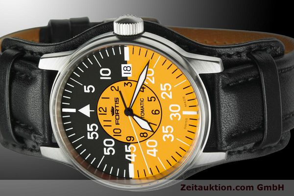 Used luxury watch Fortis Flieger steel automatic Kal. ETA 2824-2 Ref. 595.11.14 L 01  | 900002 01