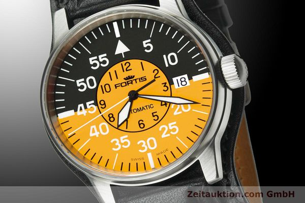 Used luxury watch Fortis Flieger steel automatic Kal. ETA 2824-2 Ref. 595.11.14 L 01  | 900002 03
