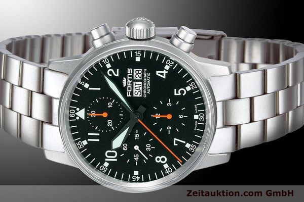 Used luxury watch Fortis Flieger Chronograph chronograph steel automatic Kal. ETA 7750 Ref. 597.11.11 M  | 900009 01