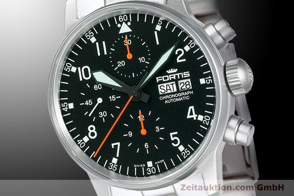 Used luxury watch Fortis Flieger Chronograph chronograph steel automatic Kal. ETA 7750 Ref. 597.11.11 M  | 900009 03