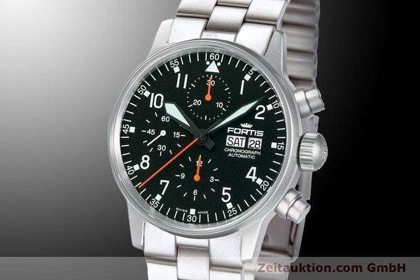 Used luxury watch Fortis Flieger Chronograph chronograph steel automatic Kal. ETA 7750 Ref. 597.11.11 M  | 900009 04