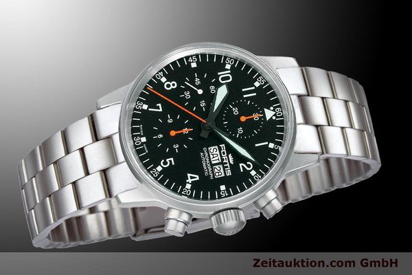 Used luxury watch Fortis Flieger Chronograph chronograph steel automatic Kal. ETA 7750 Ref. 597.11.11 M  | 900009 05