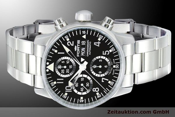 Used luxury watch Fortis Flieger Chronograph chronograph steel automatic Ref. 597.20.71M  | 900011 01