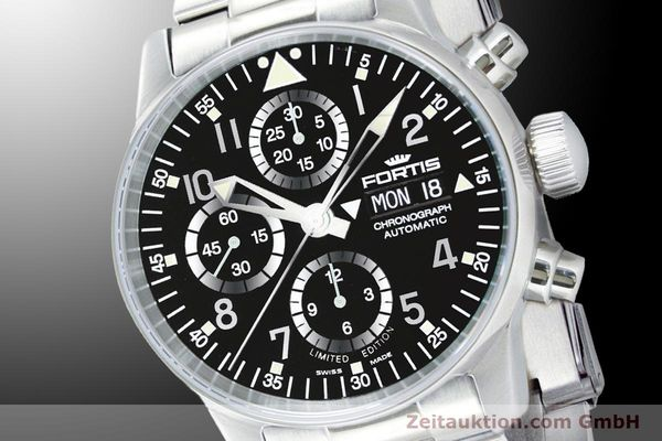 Used luxury watch Fortis Flieger Chronograph chronograph steel automatic Ref. 597.20.71M  | 900011 03