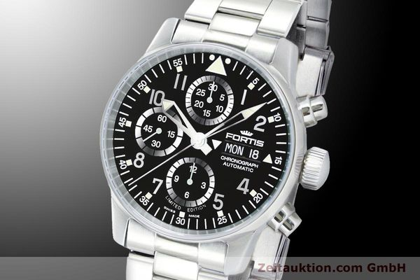 Used luxury watch Fortis Flieger Chronograph chronograph steel automatic Ref. 597.20.71M  | 900011 04