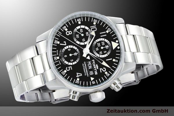 Used luxury watch Fortis Flieger Chronograph chronograph steel automatic Ref. 597.20.71M  | 900011 05