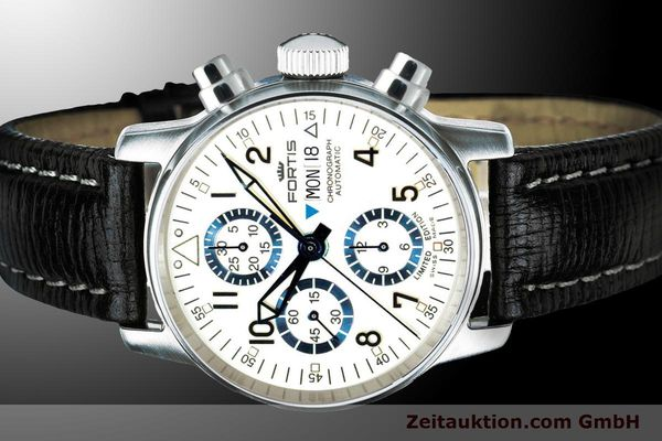 Used luxury watch Fortis Flieger Chronograph chronograph steel automatic Ref. 597.20.92 L 01 LIMITED EDITION | 900012 01