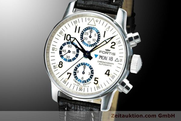 Used luxury watch Fortis Flieger Chronograph chronograph steel automatic Ref. 597.20.92 L 01 LIMITED EDITION | 900012 04