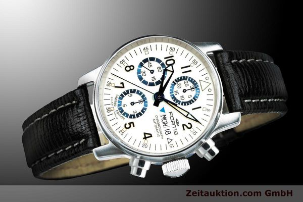 Used luxury watch Fortis Flieger Chronograph chronograph steel automatic Ref. 597.20.92 L 01 LIMITED EDITION | 900012 05