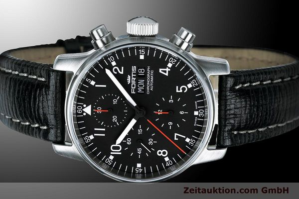 Used luxury watch Fortis Flieger Chronograph chronograph steel automatic Kal. ETA 7750 Ref. 597.22.11 L 01  | 900014 01