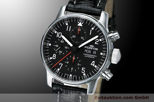 Used luxury watch Fortis Flieger Chronograph chronograph steel automatic Kal. ETA 7750 Ref. 597.22.11 L 01  | 900014 04