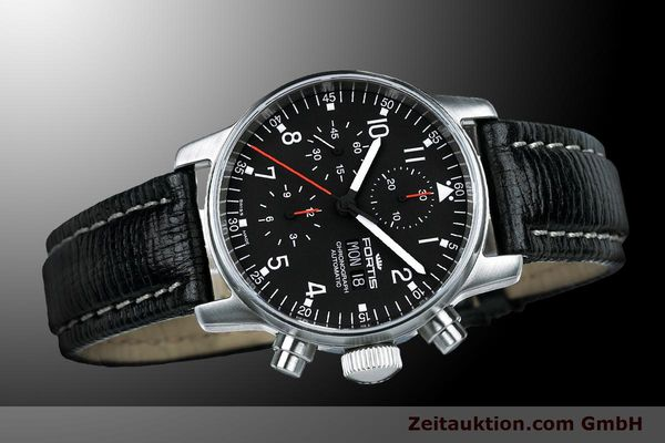 Used luxury watch Fortis Flieger Chronograph chronograph steel automatic Kal. ETA 7750 Ref. 597.22.11 L 01  | 900014 05