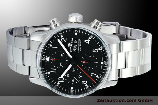 Used luxury watch Fortis Flieger Chronograph chronograph steel automatic Kal. ETA 7750 Ref. 597.22.11M  | 900015 01