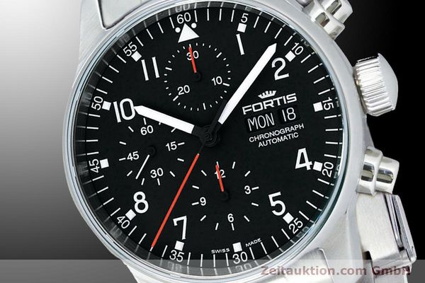 Used luxury watch Fortis Flieger Chronograph chronograph steel automatic Kal. ETA 7750 Ref. 597.22.11M  | 900015 03