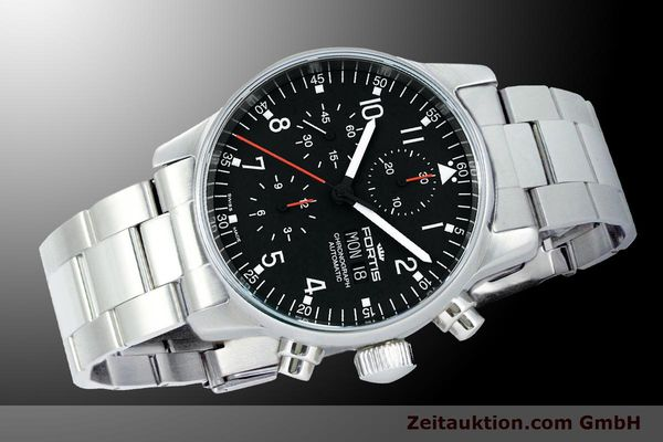 Used luxury watch Fortis Flieger Chronograph chronograph steel automatic Kal. ETA 7750 Ref. 597.22.11M  | 900015 05