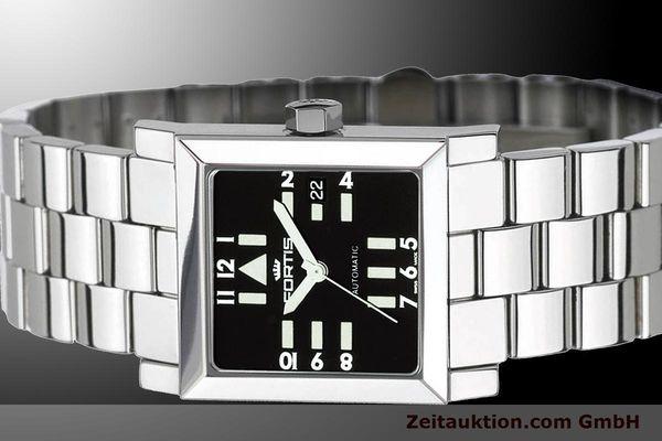 Used luxury watch Fortis Square  steel automatic Kal. ETA 2671 Ref. 629.20.71M  | 900021 01