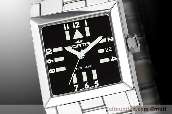 Used luxury watch Fortis Square  steel automatic Kal. ETA 2671 Ref. 629.20.71M  | 900021 03