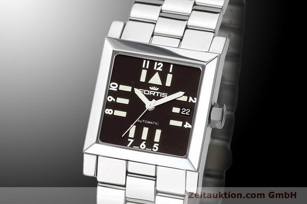 Used luxury watch Fortis Square  steel automatic Kal. ETA 2671 Ref. 629.20.71M  | 900021 04