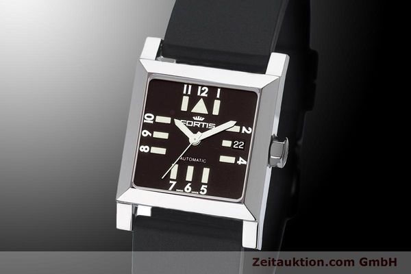 Used luxury watch Fortis Square  steel automatic Kal. ETA 2671 Ref. 629.20.71Si01  | 900022 04