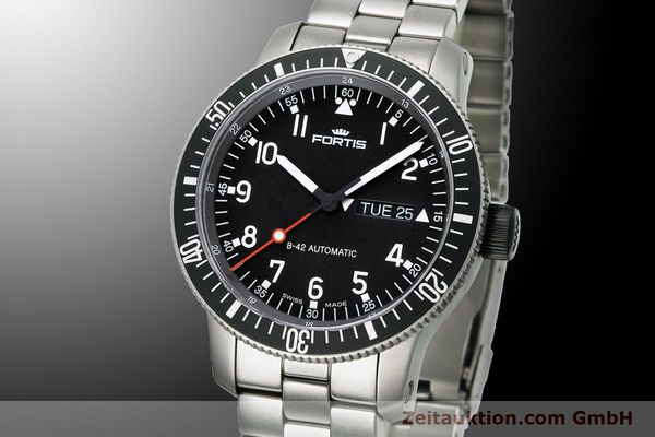 Used luxury watch Fortis B-42 titanium automatic Ref. 647.27.11M  | 900034 04